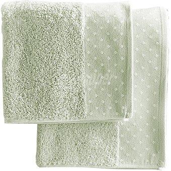 CASACTUAL Macarena toalla jacquard de tocador en color verde