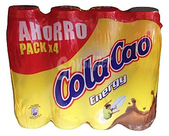 Cola Cao Batido chocolate Energy Botellin pack 4 x 188 cc - 752 cc