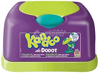 Kandoo Dodot Toallitas infantiles aroma melón Caja 60 unidades