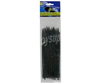 EUROBRIC 2000 Bridas de Nylon 3,5x180 Negras 50 Unidades