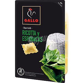 Gallo Ravioli fresco relleno de ricota y espinacas Envase 250 g