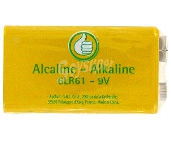 Productos Económicos Alcampo Pila alcalina 6LR61 9V 1 unidad