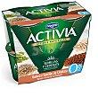 Yogur con Quinoa y Semillas de Calabaza 0% Activia Fibras 4 unidades de 120 g Activia Danone