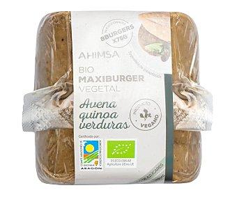 Ahimsa Preparado vegetal con avena, quinoa y verdura tipo hamburguesa ecológicas Paquete 8 unidad x 75 g
