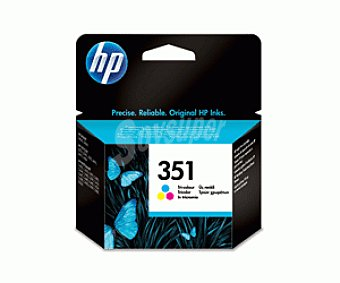 HP Cartuchos de Tinta 351 Color HP (CB337E) 1 Unidad- Compatible con: HP Officejet All-in-One serie J5700, HP Photosmart All-in-One serie C5200, HP Photosmart All-in-One serie C4300, HP Photosmart All-in-One serie C4200, impresora 1 Unidad