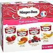 Fruit Collection tarrinas de helado sabores fruta 4 unidades 87 ml Estuche 348 ml Häagen-Dazs