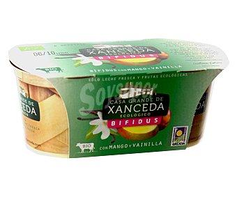 Xanceda Yogur con bífidus ecológico sabor mango y vainilla Pack 2x125 gramos