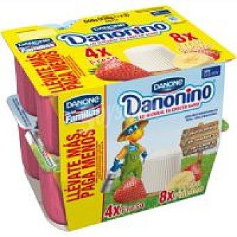 Danonino Danone Danonino fresa-fresa-plátano Pack 12x55 g