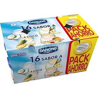 DANONE YOGUR SABORES (COCO,FRESA,LIMON,MACEDONIA) PACK 16 x 125 g - 2 kg