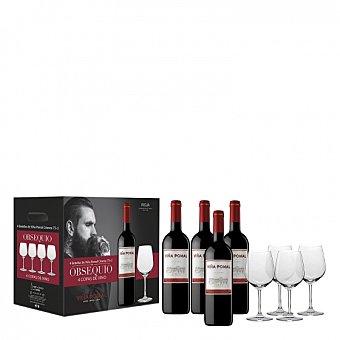 Estuche vino tinto crianza D.O. Rioja Pack de 4 x 75 cl