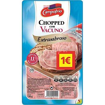 Campofrío Chopped con vacuno extrasabroso en lonchas Envase 130 g