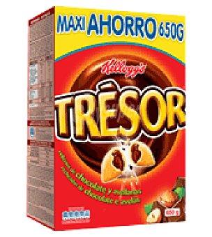 Trésor Kellogg's Chocolate y Avellana: Almohadillas de avena, arroz y trigo con relleno sabor chocolate y avellana 650 g