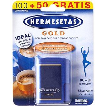HERMESETAS GOLD Edulcorante aspartamo Envase 100 comprimidos