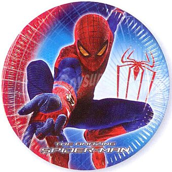 LIRAGRAM plato cartón decorado Spiderman 23 cm  10 unidades