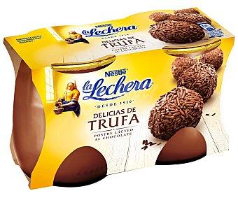 La Lechera Nestlé Postre Delicias Trufa Pack 2x125 g