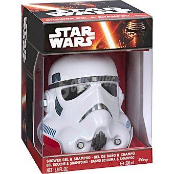 AIR VAL Star Wars Stormtrooper gel de baño & champú 2 en 1 infantil figura 3D  envase 500 ml