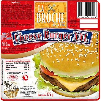 La Broche Hamburguesa cheese burger XXL con ketchup y mostaza Envase 190 g