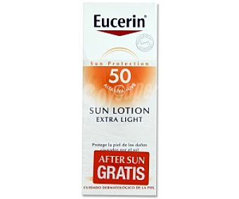 Eucerin Loción Solar FP50 Extra Light + After Sun 150 Millilitros