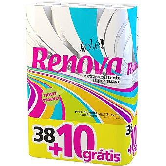 Renova Papel higienico Ole paquete 48 unidades + 10 gratis 38 rollos + 10 gratis