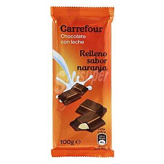 Carrefour Chocolate con leche relleno sabor naranja 100 g