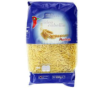 Auchan Pasta fideo cabellín Paquete de 500 gr
