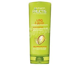 Fructis Garnier Acondicionador fortificante sin parabenos, para cabellos rebeldes o difíciles de alisar liso & brillo 300 ml