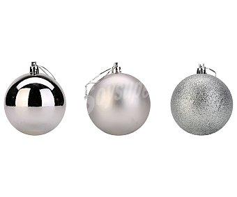 Actuel Bola colgante de 8 centímetros con diferentes acabados en color plata, ACTUEL.