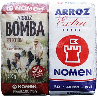 NOMEN Arroz bomba + arroz extra  2 envase de 500 g