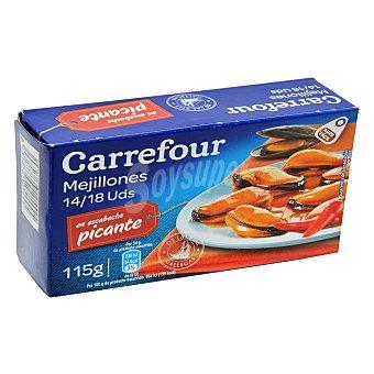 Carrefour Mejillones en escabeche picante con aceite de girasol 68 g