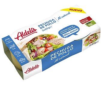 Aldelis Pechuga de pollo, conserva al natural 2 uds. x 80 g