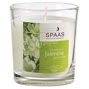 SPAAS Vela Perfumada en vaso de cristal transparente aroma Jazmín