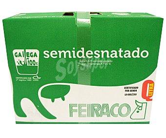 Feiraco Leche Semidesnatada 6 Brik de 1 Litro