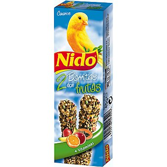 Nido Purina Baritas de frutas para canarios 2 unidades estuche 45 g 2 unidades