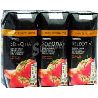 Eroski Seleqtia Zumo de tomate exprimido Pack 3x33 cl