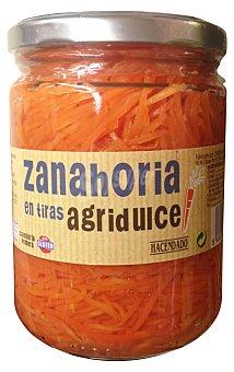 Hacendado Zanahoria agridulce tiras conserva Tarro 425 g escurrido 250 g