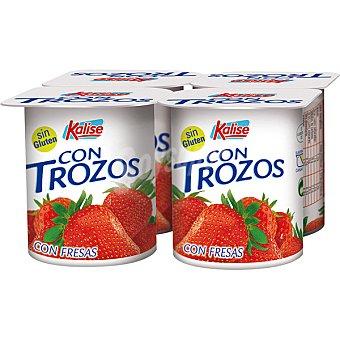 Kalise Yogur con trozos de fresa Pack 4 unds. 125 g