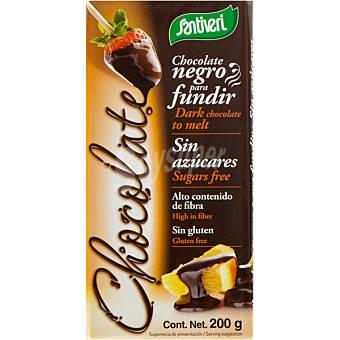Santiveri Chocolate negro para fundir sin azúcares Envase 200 g
