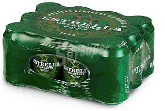 Estrella Levante Cerveza rubia nacional clásica Pack 12 latas x 33 cl