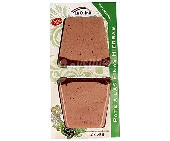 La Cuina Paté de finas hierbas Pack 2x50 grs