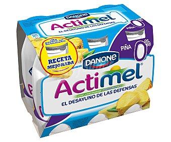 Actimel Danone Yogur líquido coco 0% Pack 6 unidades 100 g