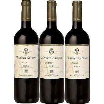 Martínez Lacuesta Vino tinto crianza D.O. Rioja estuche de madera 3 botellas 75 cl