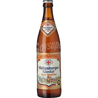 WELTENBURGER Hefe-Weissbier Hell Cerveza rubia de trigo alemana Botella 50 cl