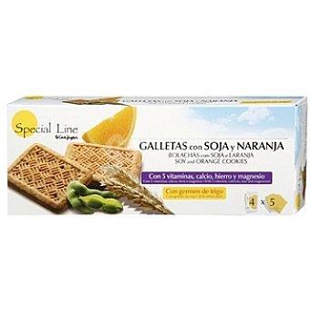 Special Line Galletas con soja y naranja Envase 200 g