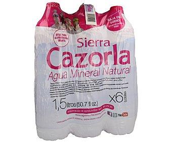 Sierra de Cazorla Agua mineral natural Pack de 6 botella