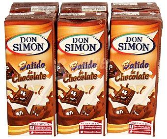 Don Simón Batido de chocolate 6 Unidades de 200 Mililitros