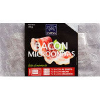 Espina Bacon microondable lonchas 70G