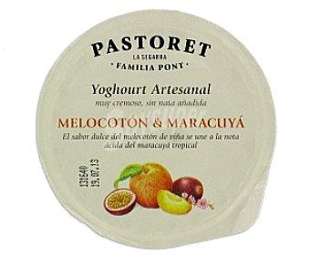 El pastoret Crema de yogur melocotón-maracuyá 125 Gramos
