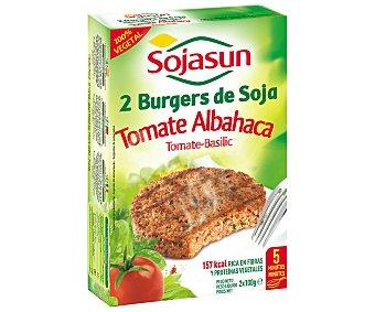 Sojasun Hamburguesa tomate albahaca Pack de 2x100 g
