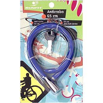 RUNFIT Candado antirrobo para bicicleta 4045 Azul 1 Unidad
