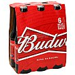 Cervezas Pack 6 botellines x 25 cl Budweiser